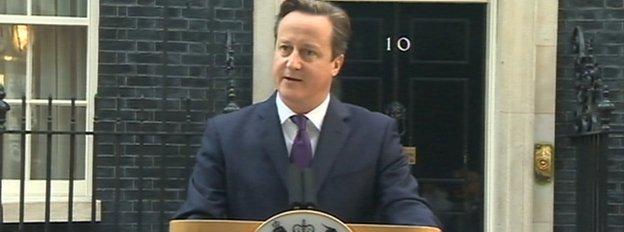 卡梅伦9月19日于苏格兰公投后发表的演讲