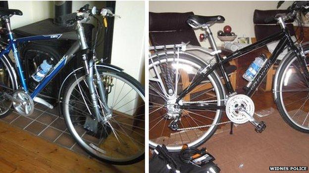 Bikes stolen in Widnes