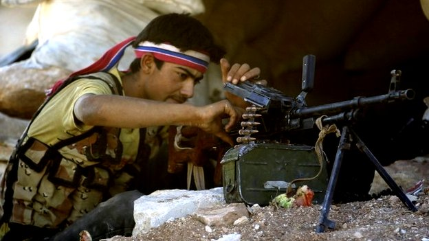 Free Syria Army fighter in Idlib (file photo)