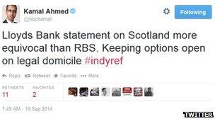 Kamal Ahmed tweet