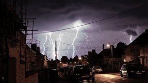 Lightning in Chippenham, 18th September evening