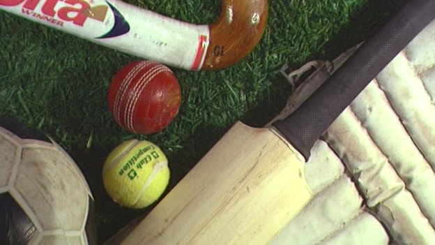 Cricket, hockey, tennis and football equipment