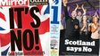 Composite image of Daily Mirror and i late edition front pages