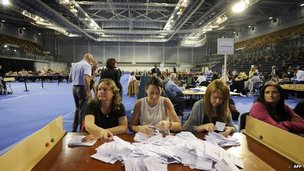 Votes counted in Glasgow