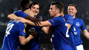 Everton Europa league win over Wolfsburg