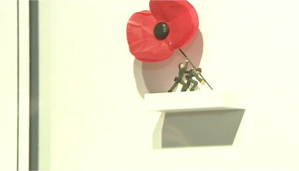 The sculpture, which has now been sold, was created by Nic Joly to commemorate World War One