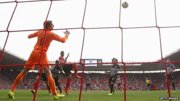 Southampton score against Newcastle