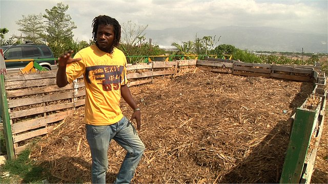Composting site in Haiti