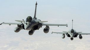 French Rafale jets on reconnaissance mission over Iraq. 15 Sept 2014