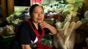 Taiwanese vegetable seller and philanthropist Chen Shu-chu