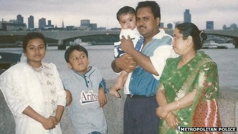 Atek Hussain with family