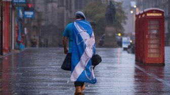 "A dejected ""Yes"" supporter in Edinburgh"