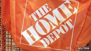 A stack of Home Depot carrier bags