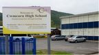 Cwmcarn High School sign