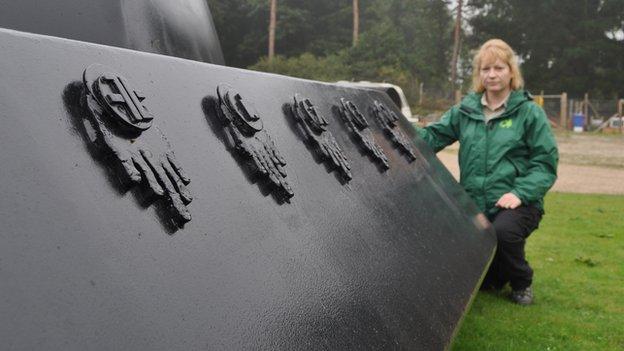 Rendlesham Forest UFO sculpture