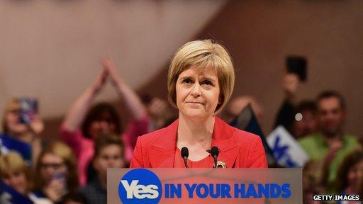 SNP deputy leader Nicola Sturgeon