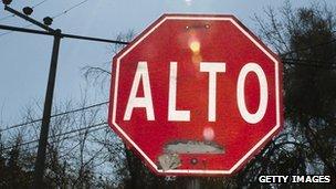 Alto road sign