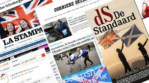 International newspapers' view on the independence vote