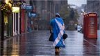 """A dejected """"Yes"""" campaigner in an empty Edinburgh street"""