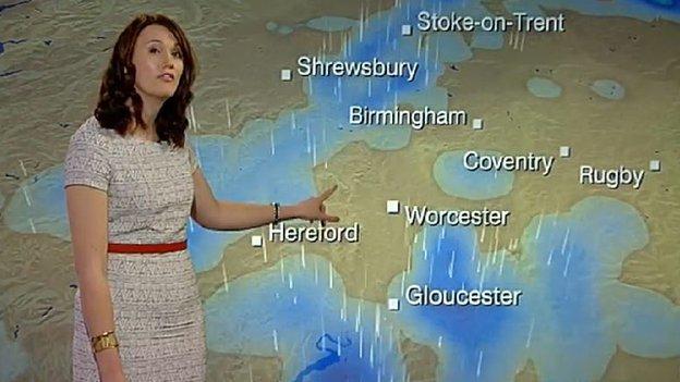 Rebecca Wood makes the forecast
