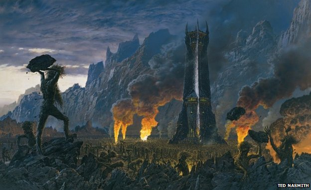 Illustrator Ted Nasmith's images, on display in Wolverhampton, portray a more traditional image of Middle Earth
