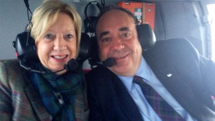 Alex and Moira Salmond