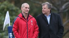 England coach Stuart Lancashire and RFU chief executive Ian Ritchie