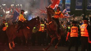 police horse at george square