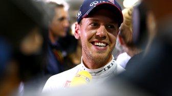 Red Bull's Sebastian Vettel after practice at the Singapore Grand Prix