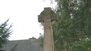 Memorial cross in Barrow-upon-Trent