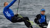 British sailors Hannah Mills (R) and Saskia Clark (L) can now look forward to contesting the 470 class at Rio