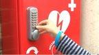 Defibrillator cupboard