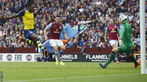 BBC Sport - Aston Villa 0-3 Arsenal