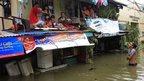Flooded homes in Cainta, east of Manila, 20 September '14
