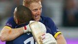 Ben Stokes hugs Gareth Breese