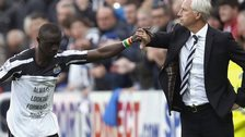 Papiss Cisse and Alan Pardew