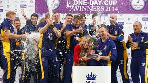 Durham celebrate One-Day Cup final win
