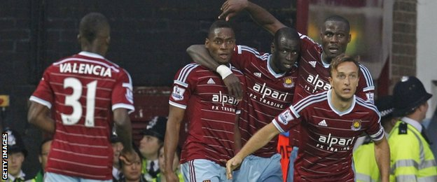 Diafro Sakho (second on the left)