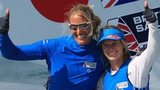 British sailors Hannah Mills (right) and Saskia Clark