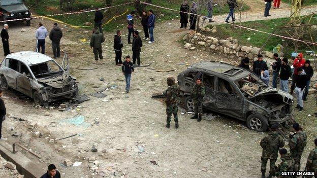 Blast hits Hezbollah checkpoint...