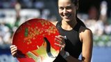 Ana Ivanovic with the Pan Pacific Open trophy