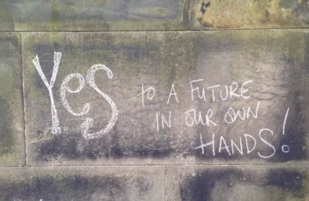"""Yes"" chalk message"