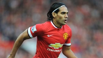 Falcao in action for Manchester United