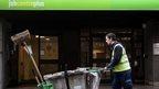 Street sweeper outside job centre