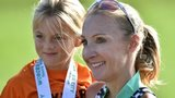 Paula Radcliffe and daughter Isla