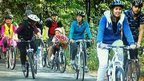 Cyclists on the ride