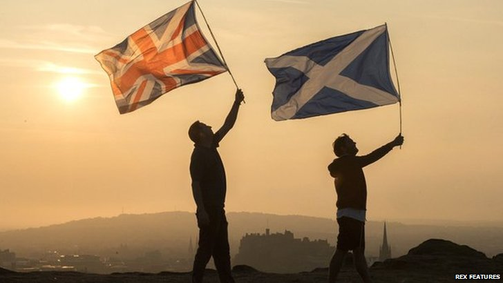 Union and Scottish flag