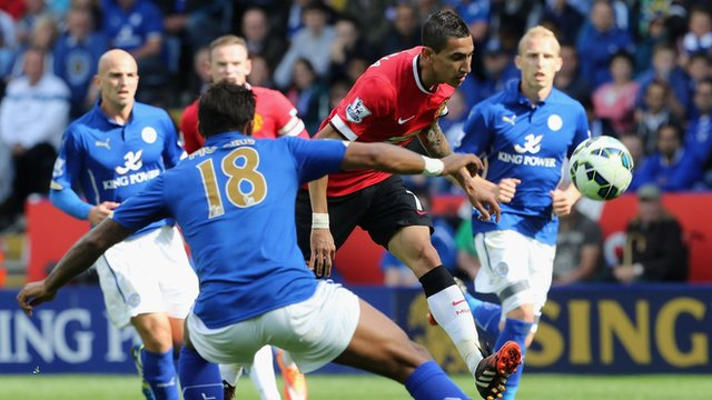 Angel Di Maria scores a stunning chip for Manchester United against Leicester City