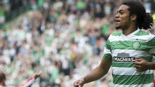 Celtic's Jason Denayer celebrates