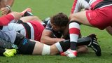 Rhys Webb scores his second try for Ospreys against Edinburgh
